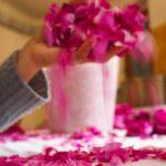 Petali di rosa mano